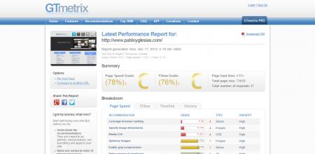 Herramientas Web: GTMetrix, consejos para acelerar tu web ...
